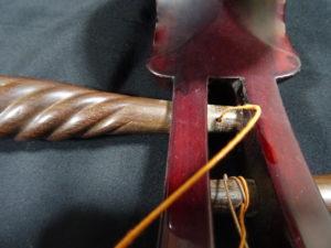 中国琵琶琴軸